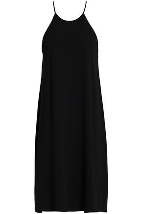 HALSTON HERITAGE Flared crepe dress