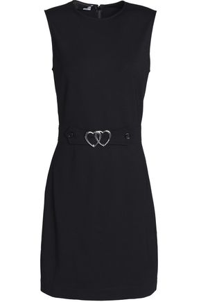 LOVE MOSCHINO Belted ponte mini dress
