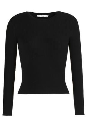 TIBI Ribbed-knit top