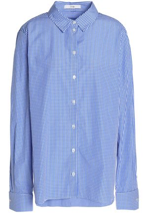 TIBI Gingham cotton-poplin shirt