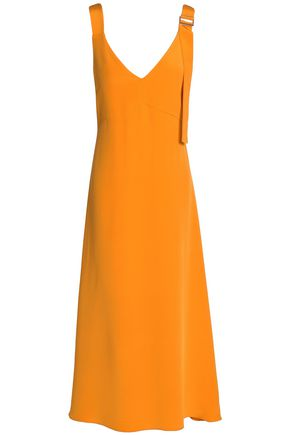TIBI Asymmetric silk-crepe midi dress