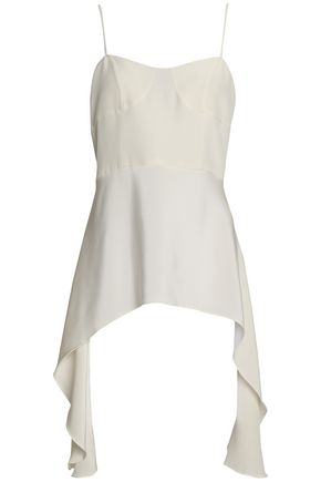TIBI Draped silk top