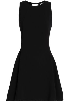 HALSTON HERITAGE Cutout crepe mini dress