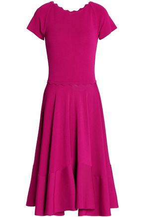 ANTONIO BERARDI Scalloped ponte dress