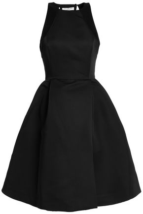 HALSTON HERITAGE Cutout faille dress