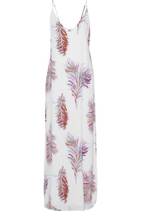 VIX PAULAHERMANNY Lace-up printed voile maxi dress