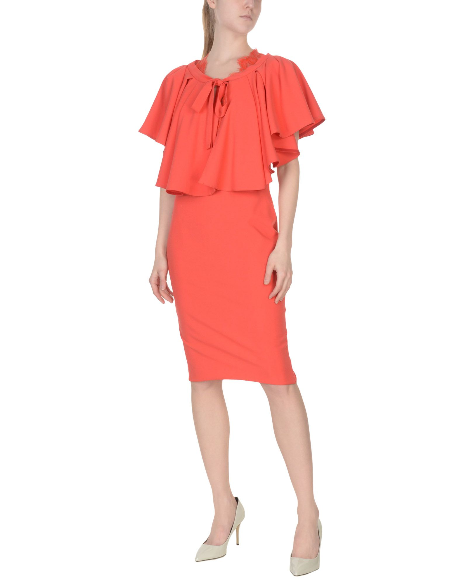 RHEA COSTA Suit in Coral