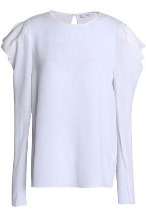 TIBI Celestia draped crepe blouse