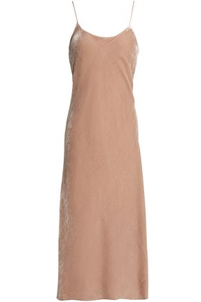 TIBI Velvet midi slip dress