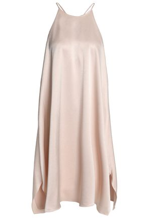 HALSTON HERITAGE Open-back satin mini dress