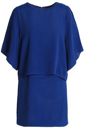 HALSTON HERITAGE Layered crepe mini dress