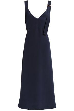 TIBI Asymmetric silk-crepe midi dress