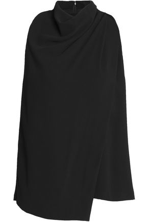 HALSTON HERITAGE Draped crepe top
