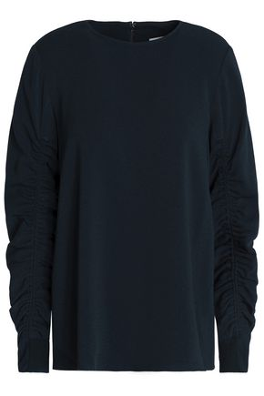TIBI Ruched crepe top