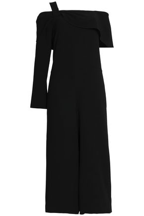 TIBI Off-the-shoulder cropped cutout crepe jumpsuit