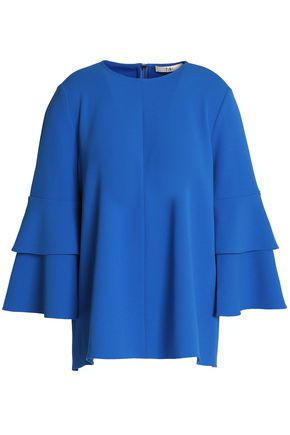 TIBI Fluted crepe top