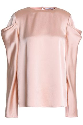 TIBI Celestia draped satin-crepe blouse