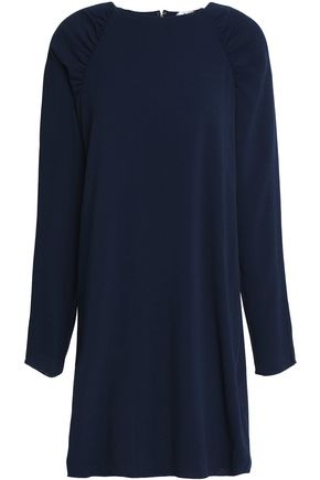 TIBI Ruched crepe mini dress