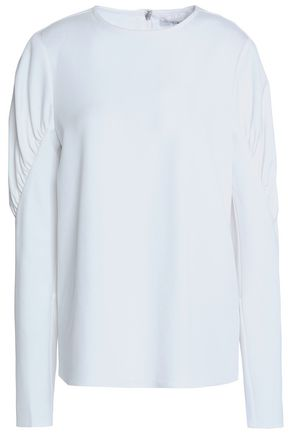 TIBI Gathered stretch-knit top