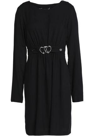 LOVE MOSCHINO Belted ponte mini dress