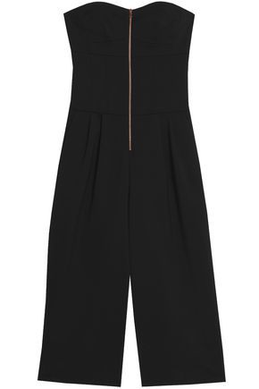 TIBI Strapless zip-detailed ponte jumpsuit