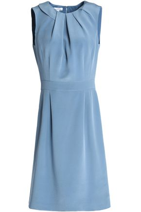 OSCAR DE LA RENTA Pleated silk dress