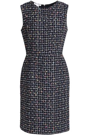 OSCAR DE LA RENTA Embellished bouclé-tweed dress
