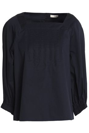 TIBI Cotton-poplin blouse