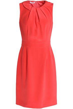 OSCAR DE LA RENTA Pleated silk dress