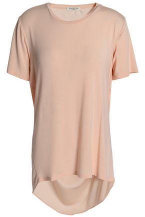 HALSTON HERITAGE Draped stretch modal-jersey T-shirt