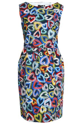 LOVE MOSCHINO Printed cotton-blend twill dress