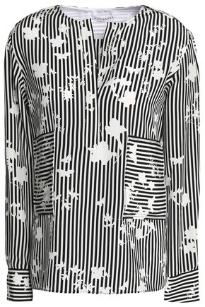 ALTUZARRA Striped silk top