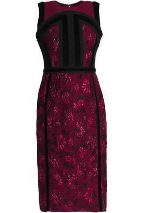 ALTUZARRA Velvet-trimmed brocade dress