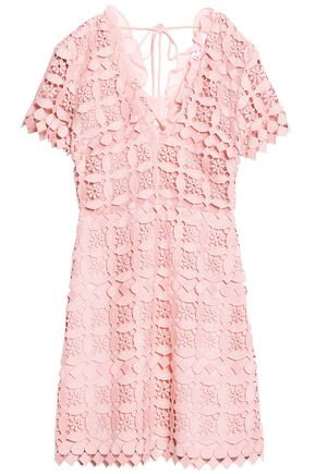 SANDRO Paris Guipure lace mini dress