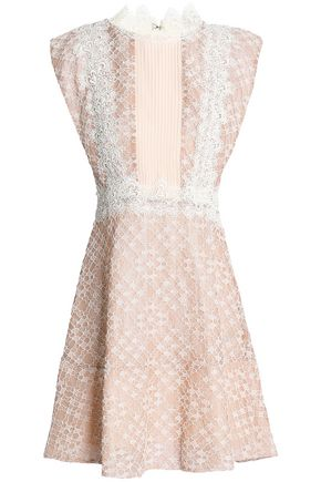 SANDRO Paris Cotton-blend corded lace mini dress