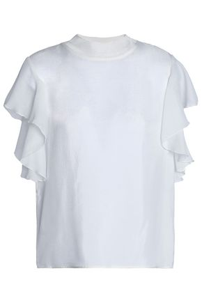 SANDRO Paris Ruffled gauze top