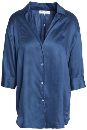 SANDRO Paris Cotton-satin shirt