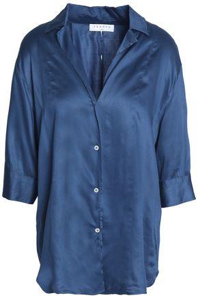 SANDRO Paris Cotton-satin shirt