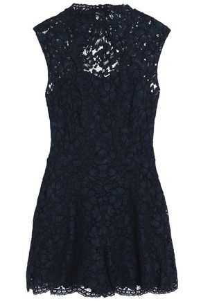 SANDRO Paris Open-back corded lace playsuit