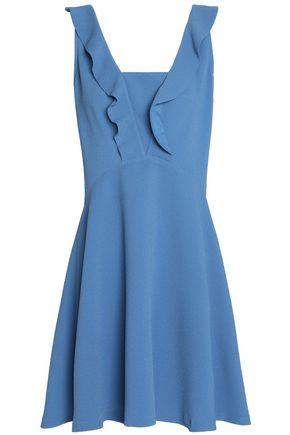 SANDRO Paris Ruffle-trimmed cloqué mini dress