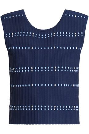 SANDRO Ribbed stretch-ponte top