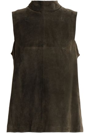 AMANDA WAKELEY Suede top