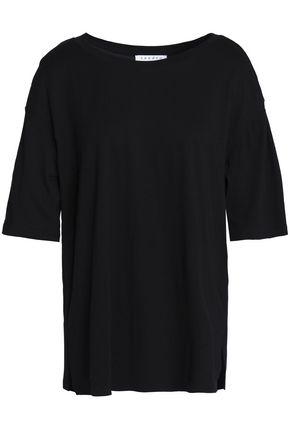 SANDRO Bead-embellished cotton and modal-blend T-shirt