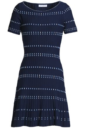 SANDRO Jacquard-knit mini dress