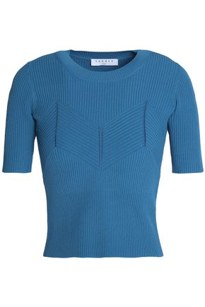 SANDRO Paris Ribbed-knit top