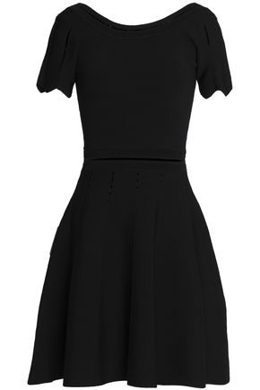 SANDRO Paris Pleated stretch-ponte mini dress