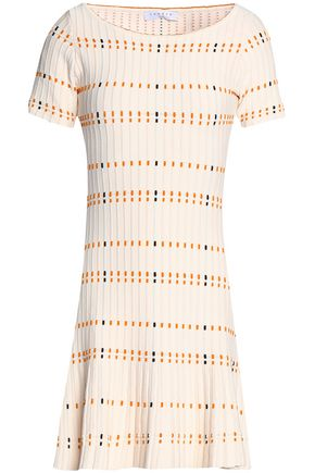 SANDRO Paris Jacquard-knit mini dress