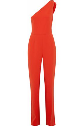 DIANE VON FURSTENBERG One-shoulder crepe jumpsuit