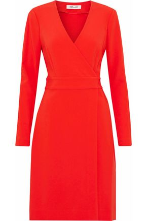 DIANE VON FURSTENBERG Crepe wrap dress
