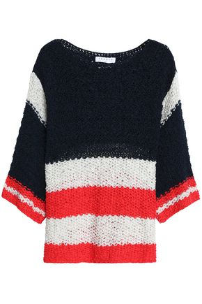 SANDRO Paris Striped open-knit sweater